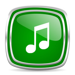 music glossy computer icon on white background