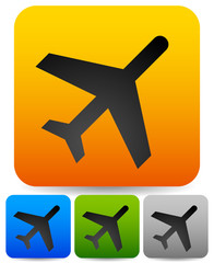 Simple plane, flight icons