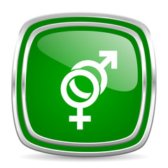 sex glossy computer icon on white background