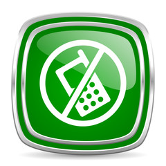 no phone glossy computer icon on white background