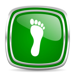 foot glossy computer icon on white background