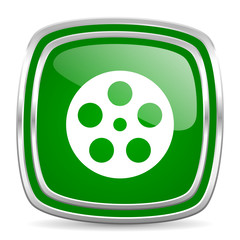 film glossy computer icon on white background
