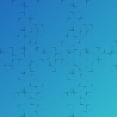 abstract blue background with squares and shadow effects