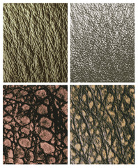 Leather reptiles pattern in natural colors