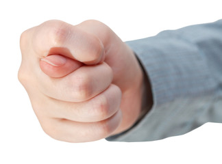 front view of fig sign - hand gesture