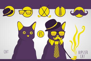 Cat vs Hipster cat
