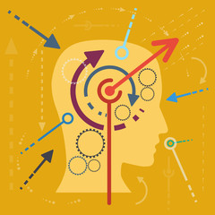 Concept stimulate the mind, flat design