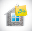 home and real estate post illustration design