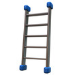 3d illustration of metal ladder