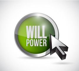 will power button illustration design