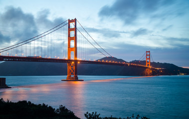 Famous Golden Gate Bridge in San Francisco