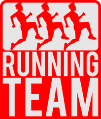 Running Team Crew Logo Design