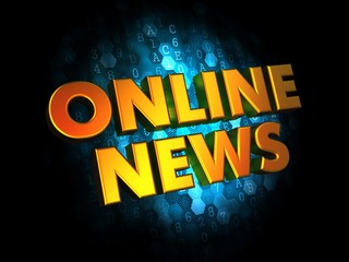 Online News - Gold 3D Words.