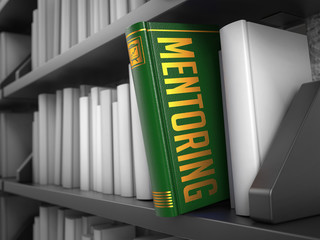 Mentoring - Title of Book. Educational Concept.
