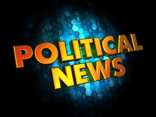 Political News - Gold 3D Words.