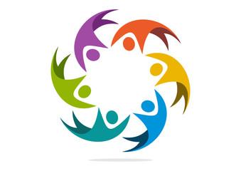 logo team work creative