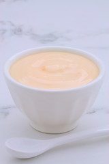 Fresh peach yogurt