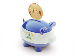 Nicaragua Nation Concept Piggy Concept