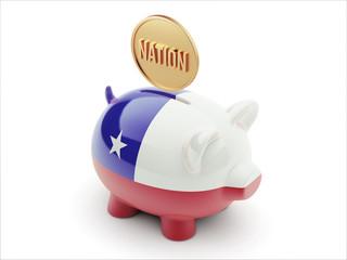 Chile Nation Concept Piggy Concept