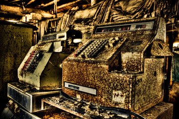 Rusted Cash Register