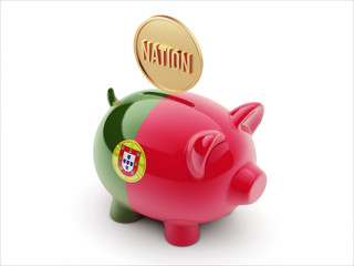 Portugal Nation Concept Piggy Concept