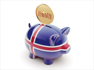 Iceland Nation Concept Piggy Concept
