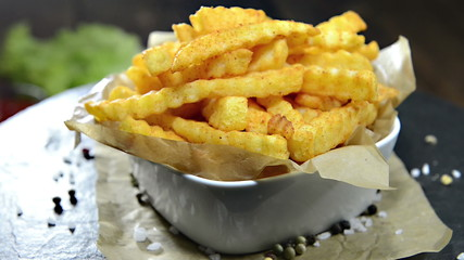 Homemade rotating French Fries as loopable full HD video