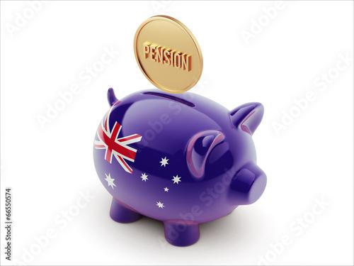 Australia Pension Concept Piggy Concept