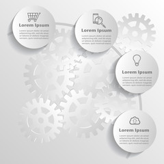 Technology infographics design