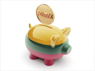 Lithuania Politics Concept Piggy Concept