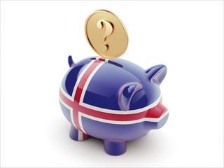 Iceland Question Mark Concept Piggy Concept