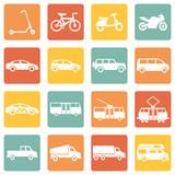 Fototapety Vector Set of  Ground Transportation Icons