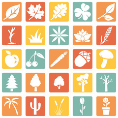 Vector Set of Plants Icons