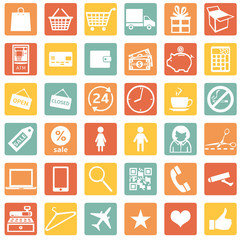 Vector Set of Shopping Icons