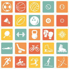 Vector Set of Sport Icons