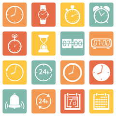 Vector Set of  Time Icons
