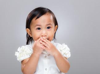 Multiracial baby keep quiet