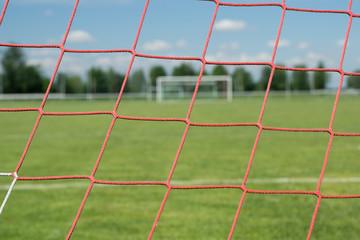 Fußballplatz mit Fußballtor