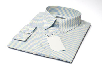 men's shirt and label