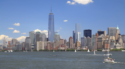 New York City skyline with Lower Manhattan skyline
