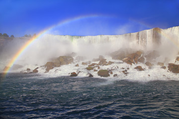 American Falls and rainbow, Niagara