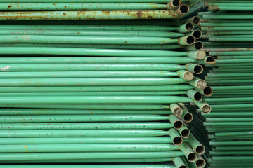 green metal pipe