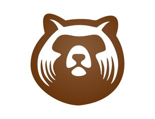 bear logo,modern media business symbol,animal mammal icon