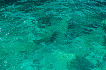 Clear green sea water