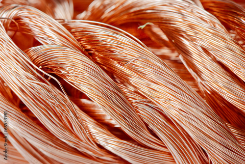 Foto op Aluminium Metal Copper wire