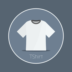 "Tshirt : Vector ""Tshirt"" icon flat design"