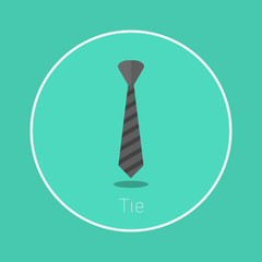 "Tie : Vector ""necktie"" icon flat design"
