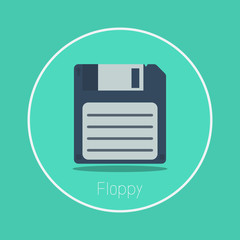"Floppy : Vector ""floppy disk"" icon flat design"
