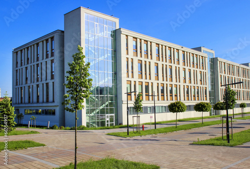 Foto op Aluminium Krakau The Jagiellonian University, Krakow, Poland Modern campus build