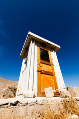 wooden toilet house